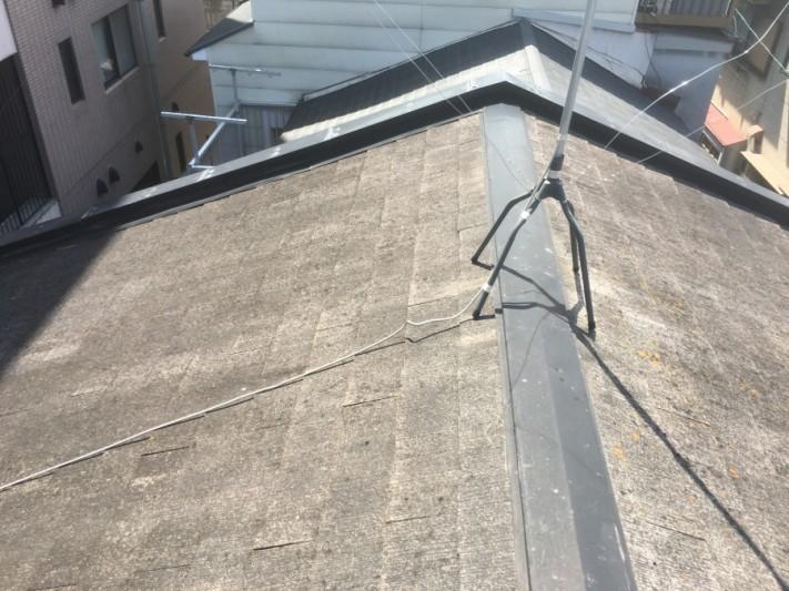屋根塗装着工