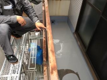 ウレタン防水工事ウレタン塗布