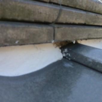 面戸漆喰の施工不良
