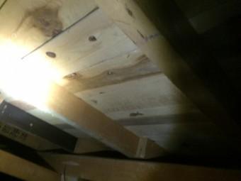 屋根裏の様子