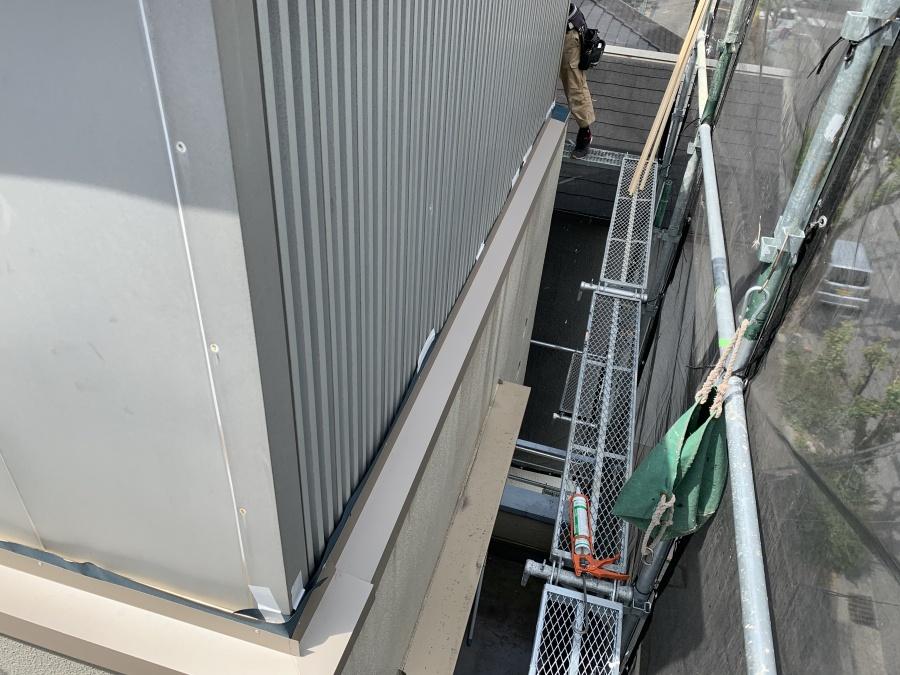 外壁カバー土台 土台水切取付