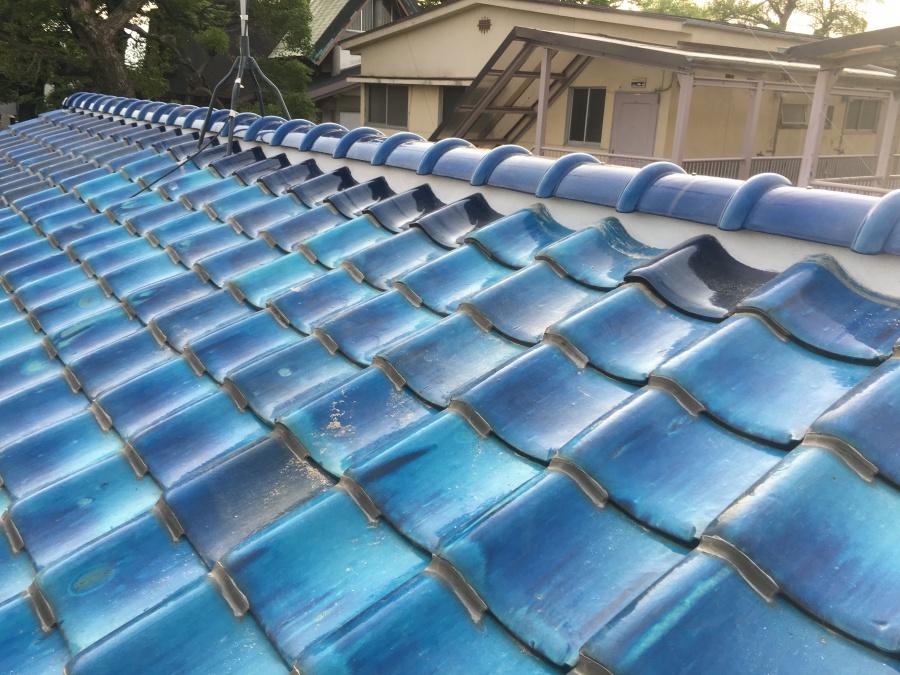 漆喰詰め直し後瓦屋根