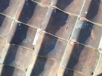 ラバーロック工法が施された瓦