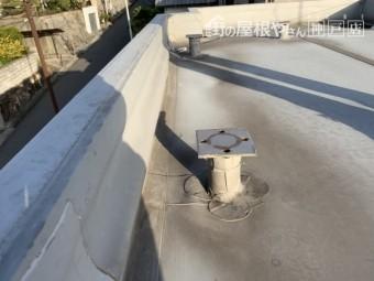 雨漏り調査 立上り防水層の浮き