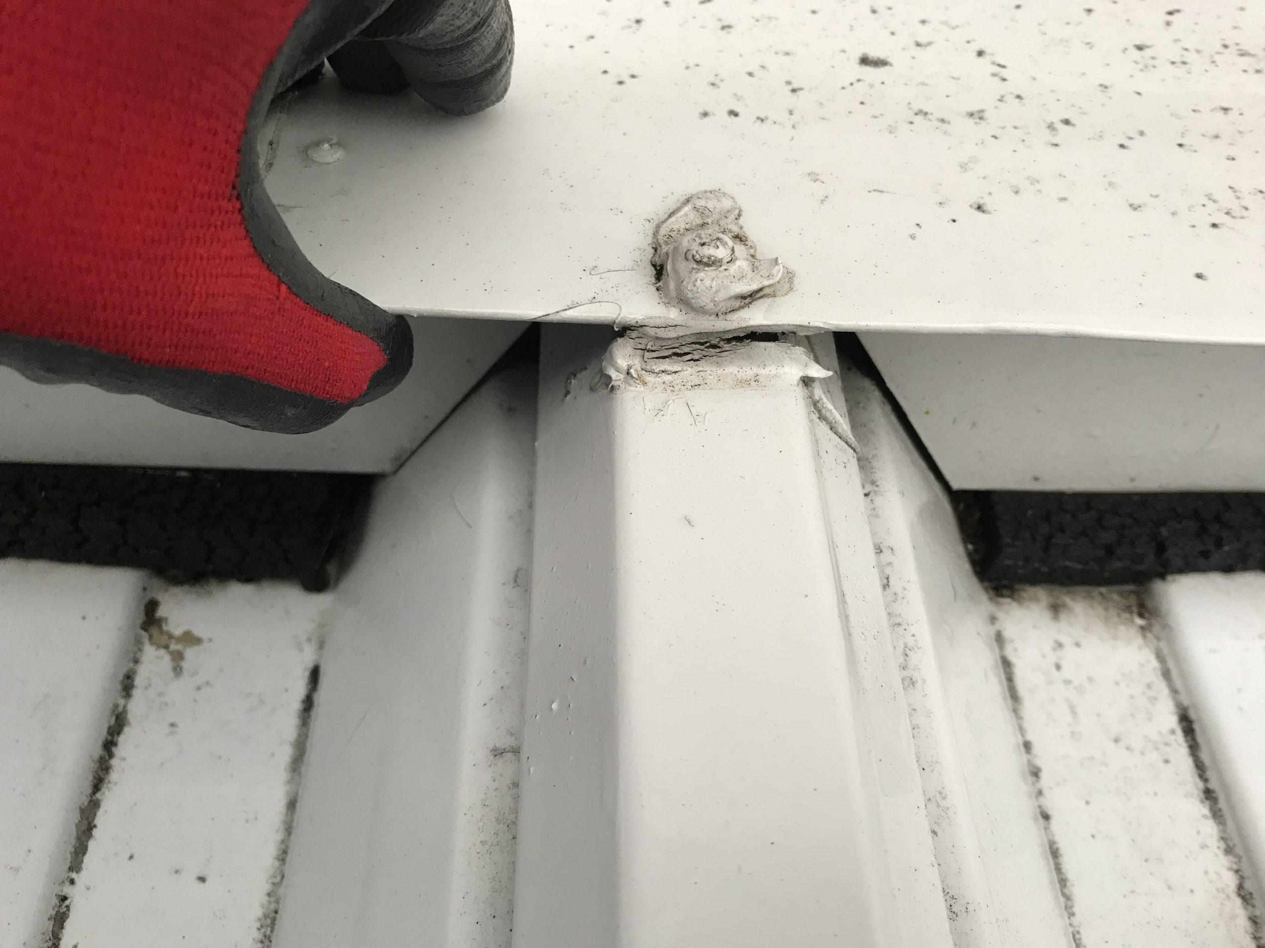 壁と屋根との取り合い面戸