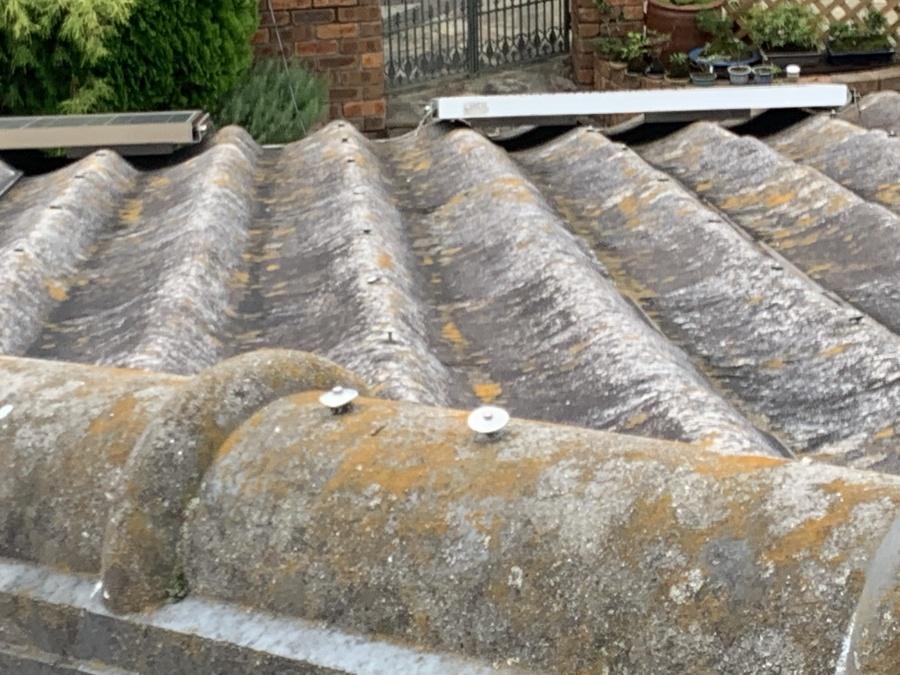 大和スレート Yかわら屋根 棟固定釘の浮き