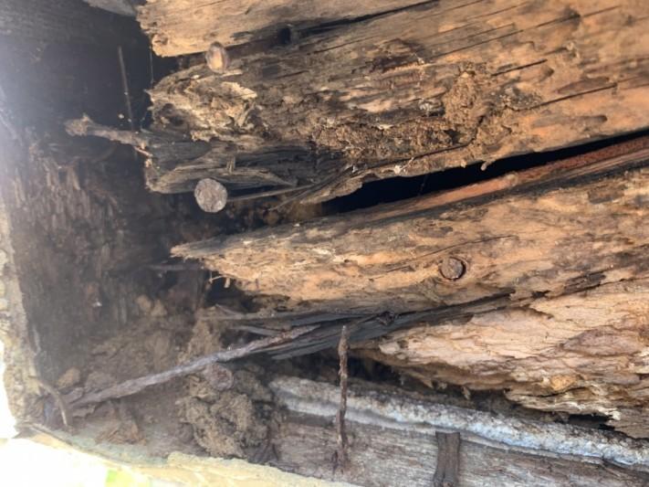 雨樋の脱落 下地の朽ち