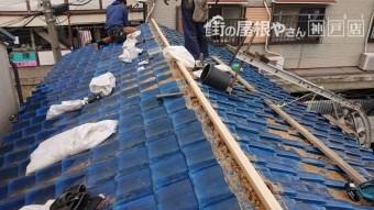 神戸市兵庫区 防災棟 下地寸五垂木