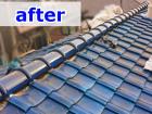 部分的なリフォームで復旧した屋根