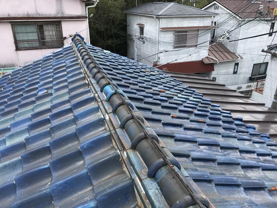葺き替え現場屋根before
