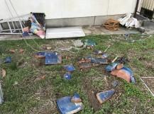 台風で落下した瓦