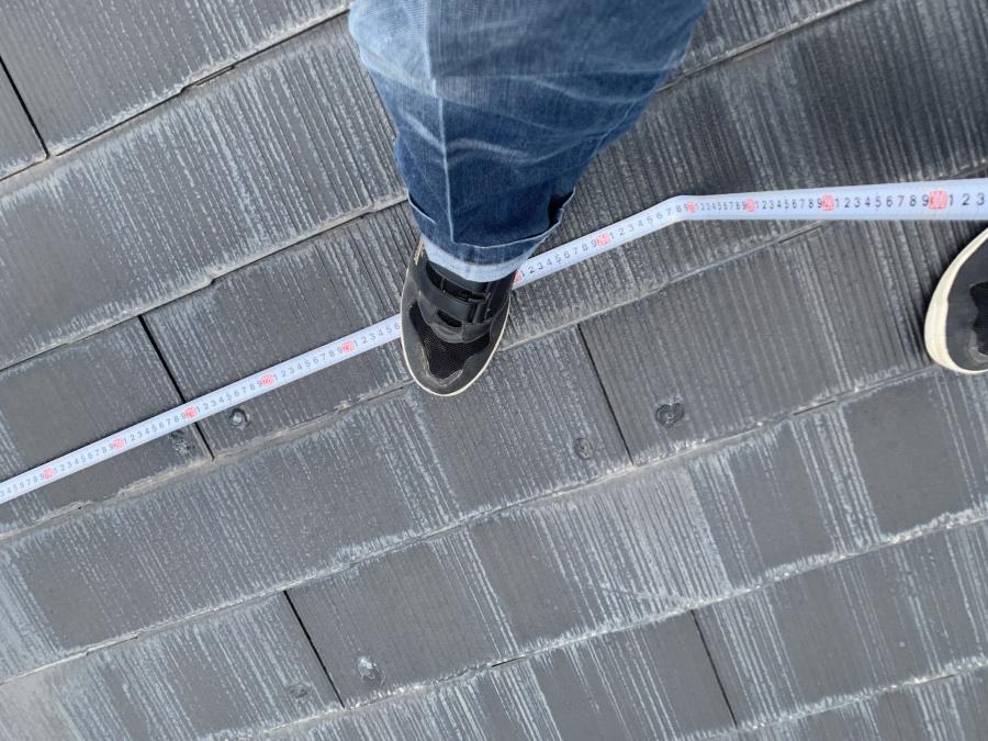 雨漏り個所直上 カラーベスト屋根