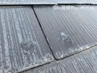 カラーベスト屋根のビス補修跡