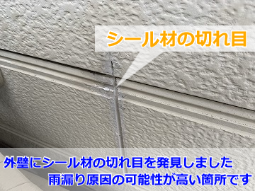 外壁の雨漏り調査