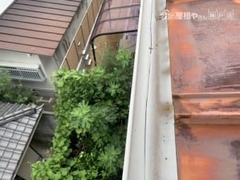 東灘区 雨樋調査 樋のひび割れ