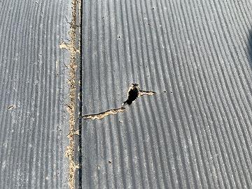 セメント瓦のひび割れ