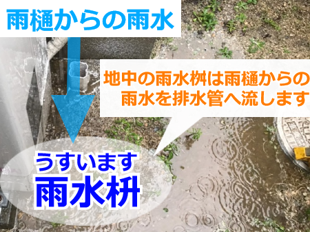 雨水桝(うすいます)の役割とは?