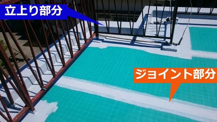 ウレタン防水塗布工程
